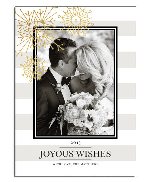 Classic Wishes 5x7 Artful Snowflakes Foil Press Card