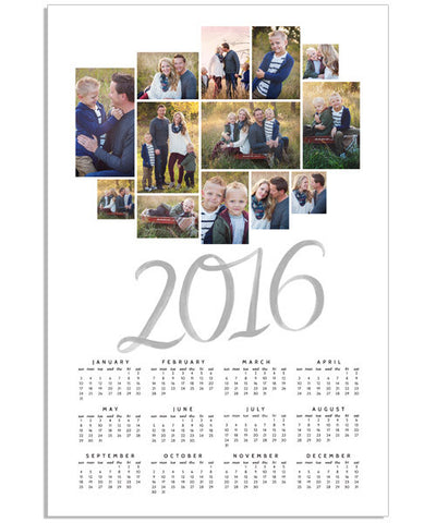 Collage Calendar 12x18 Poster – 2016-2020