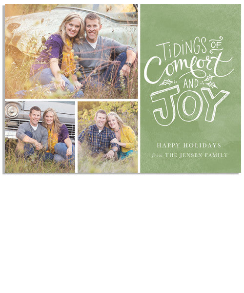 Comfort & Joy 7x5 Flat Card and Address Label