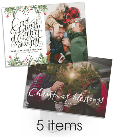 Comfort and Joy Christmas Cards Bundle