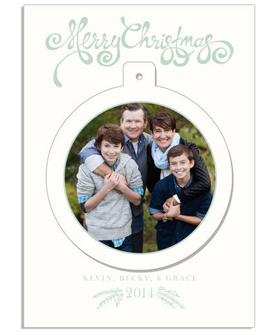 Deck the Halls 5x7 Circle Luxe Pop Card