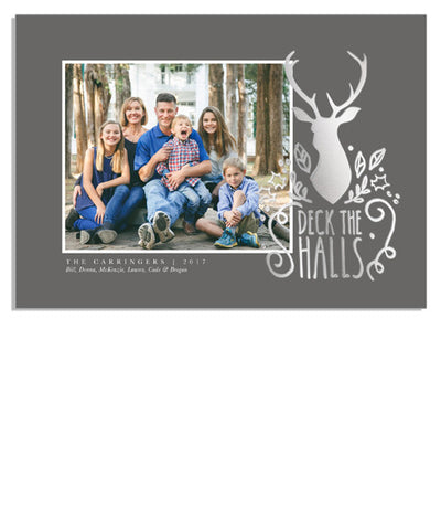 Deck the Halls Yearbook 7x5 Deck the Halls Foil Press Card