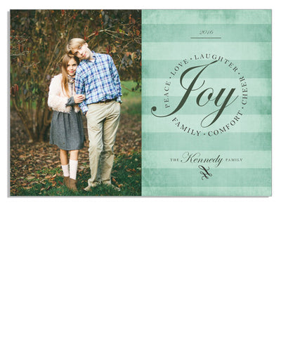 Elegant Joy Circle 7x5 Flat Card