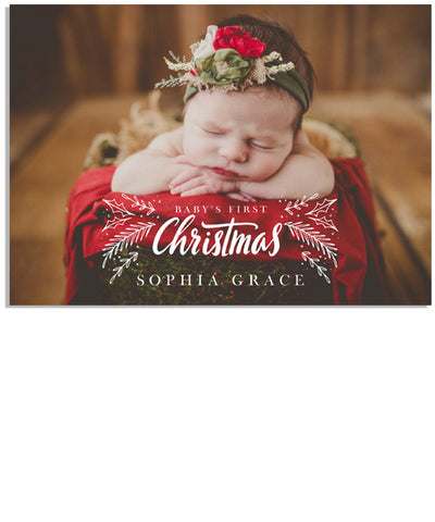 First Christmas 7x5 Flat Card