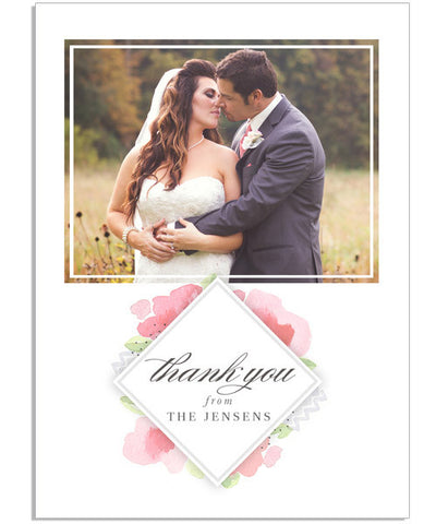 Floral Chic Thank You 4.25x5.5 Folded Card