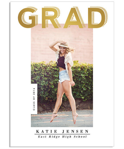 Gilded Grad 5x7 Grad Nevis Foil Press Card