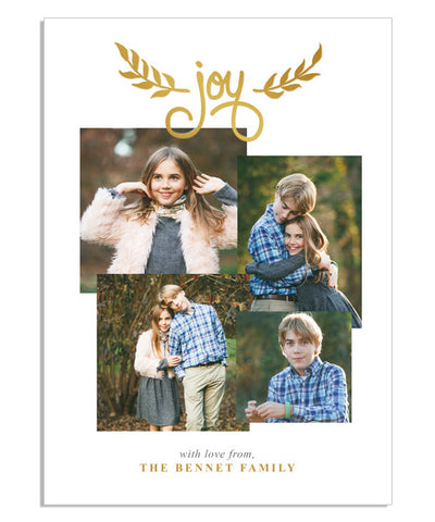 Golden Joy 5x7 Joy Foil Press Card
