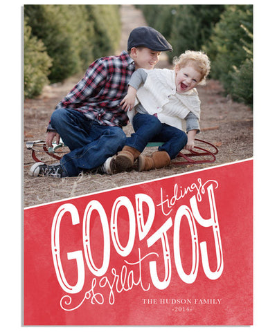 Great Joy 5x7 Flat Card and Address Label