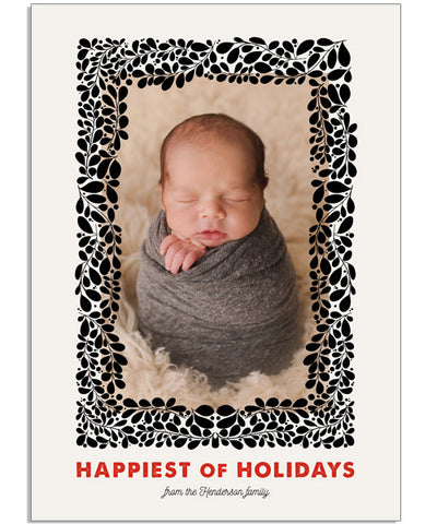 Happiest Frame 5x7 Flat Card, Address Label and Circle Sticker