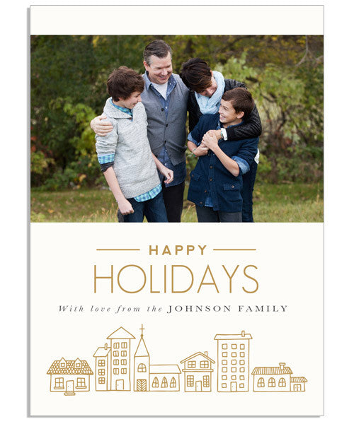Happiest Holiday 5x7 Flat Card and Address Label