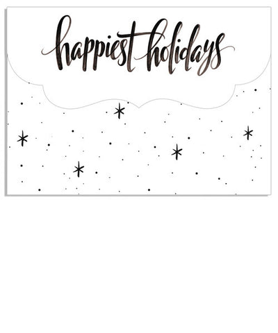 Happiest Holidays 7x5 Top Folded Luxe Card