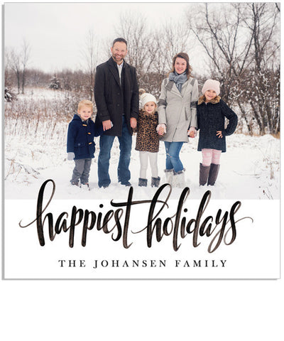 Happiest Holidays 5x5 Accordion Card