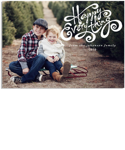 Happy Everything 7x5 Flat Card