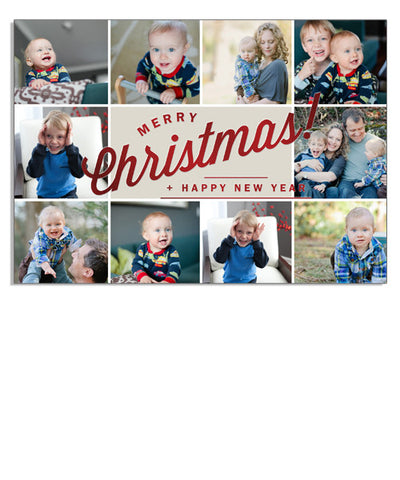 Happy Photos 7x5 Classic Christmas Foil Press Card