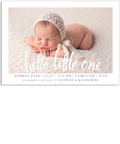 Hello Little One 7x5 Flat Card