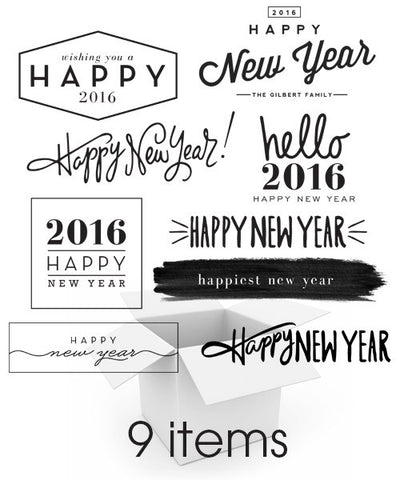 Hello New Year's Overlays