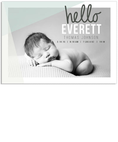 Hello Welcome 1 7x5 Flat Card