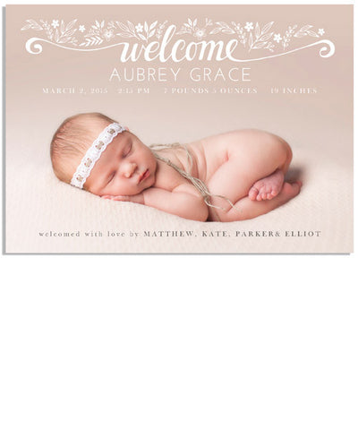 Hello Welcome Card 2 7x5 Flat Card