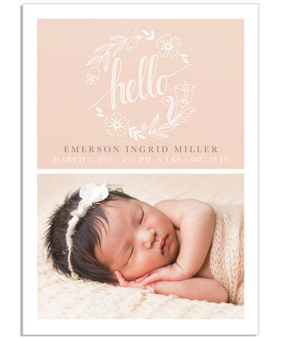 Hello Welcome Card 3 5x7 Flat Card