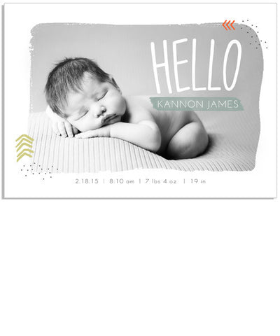 Hello Welcome Card 4 7x5 Flat Card