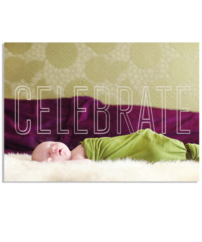 Holiday Celebration 7x5 Celebrate Outline Foil Press Card