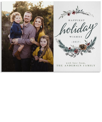 Holiday Elegance 7x5 Flat Card
