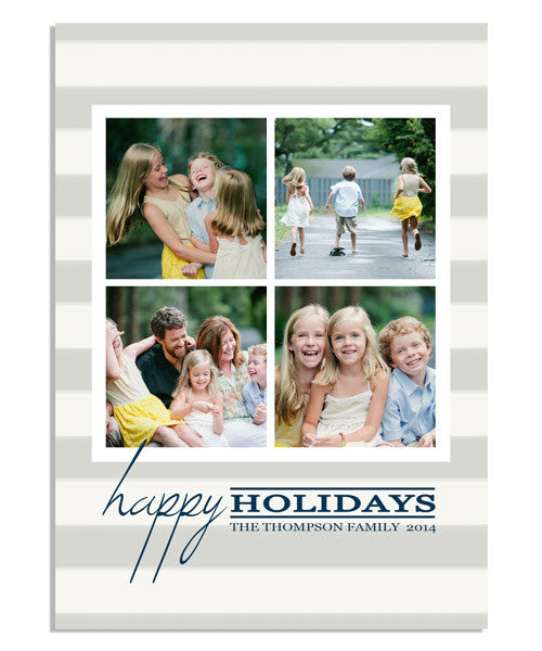 Holiday Stripes 5x7 Flat Card