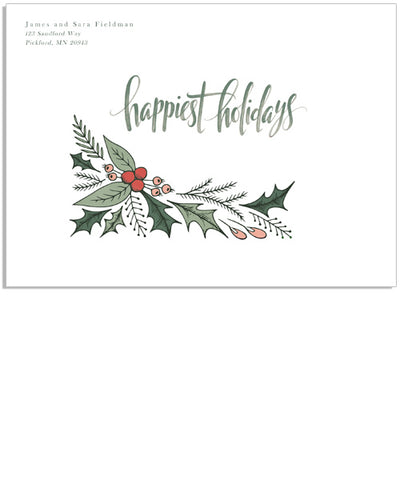 Holly 7x5 Printed Envelope
