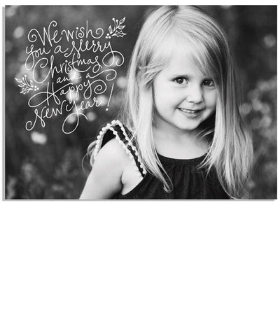 Holly Christmas 7x5 Flat Card and Address Label
