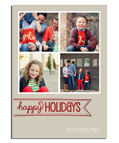 Jingle Time 5x7 Happy Banner Foil Press Card