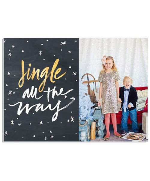 Jingle All the Way 7x5 Flat Card