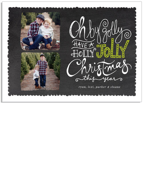 Jolly Christmas 7x5 Flat Card and Address Label