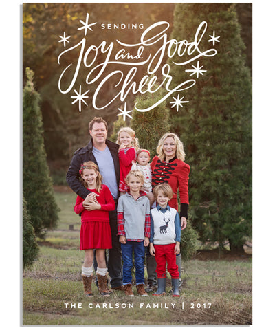 Joy and Good Cheer 5x7 Flat Card and Address Label