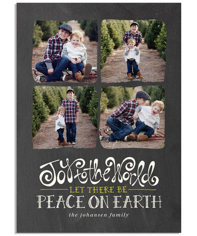 Joy and Peace 5x7 Flat Card and Address Label