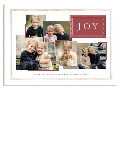 Joy Photos 7x5 Classic Frame Foil Press Card