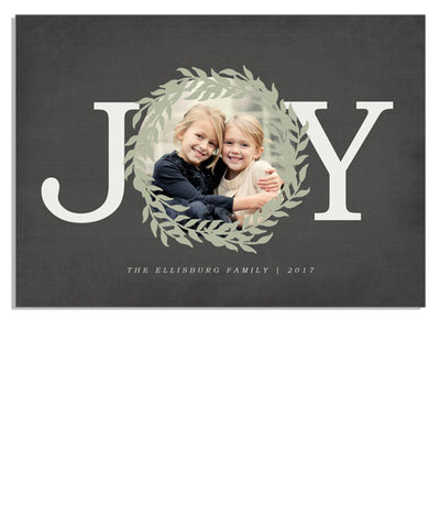 Joy Wreath 7x5 Flat Card