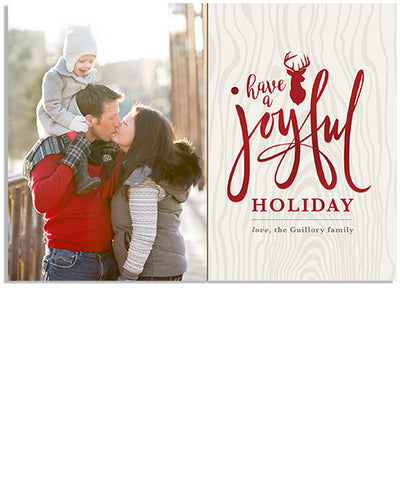 Joyful Deer 7x5 Flowing Joy Foil Press Card