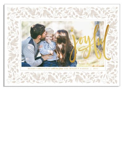 Joyful Hearts 7x5 Flowing Joy Foil Press Card