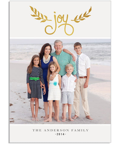 Joys of the Season 5x7 Joy Foil Press Card