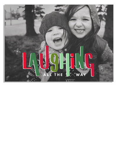 Laughing Holiday 7x5 Flat Card