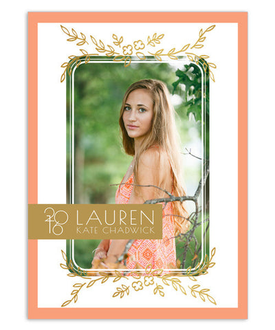 Lauren 5x7 Floral Foil Press Card