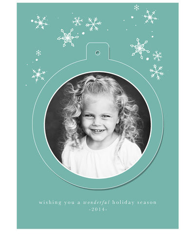 Let It Snow 5x7 Circle Luxe Pop Card
