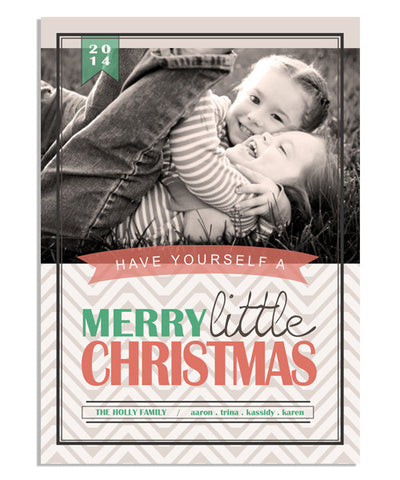 Little Christmas 5x7 Flat Card