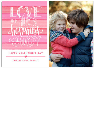 Love and Hugs 7x5 Flat Card