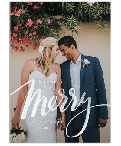Married and Merry 5x7 Flat Card