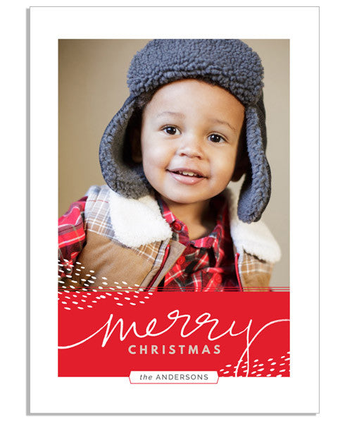 Merry Dots 5x7 Flat Card