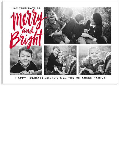 Merry and Bright 7x5 Flat Card