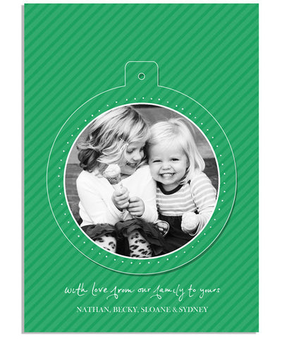 Merry & Bright 5x7 Circle Luxe Pop Card