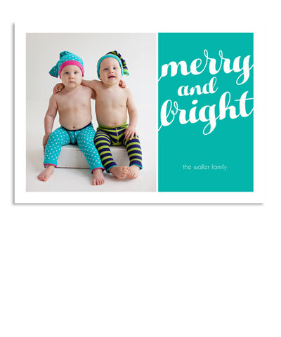 Merry and Bright 7x5 Flat Card and Envelope Liner