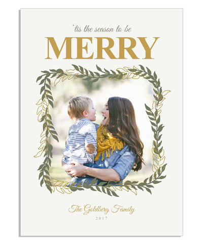 Merry Letter 5x7 Flat Card